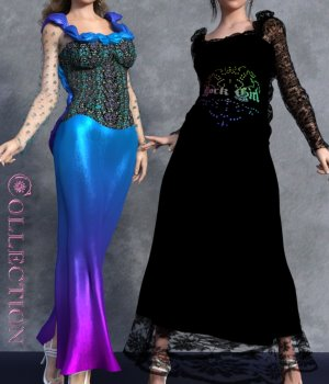 Collection for Shameless Dress G3F by powerage 3D Figure Assets chasmata