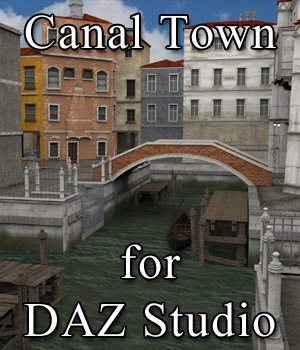 Canal Town for DAZ Studio  3D Models VanishingPoint