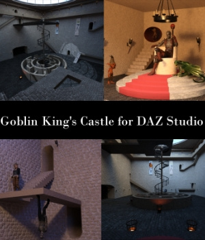 Goblin King's Castle for DAZ Studio 3D Models EmotionalOutlet3D