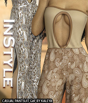 InStyle - Casual Pantsuit G8F 3D Figure Assets -Valkyrie-