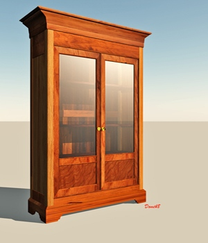 BOOKCASE for Vue 3D Models Domi48