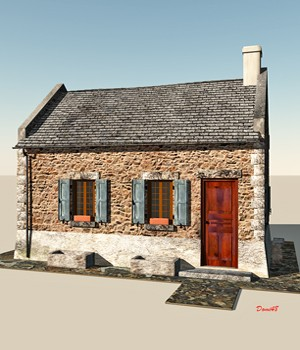 EASY HOUSE For Vue 3D Models Domi48