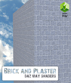 Brick and Plaster :: Daz IRAY Shaders 3D Figure Assets Merchant Resources Cyrax3D