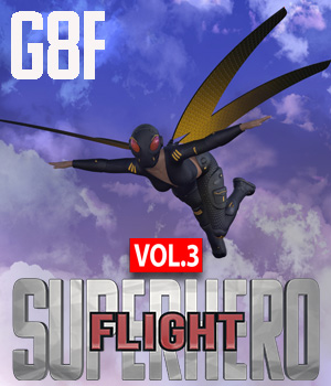 SuperHero Flight for G8F Volume 3 3D Figure Assets GriffinFX