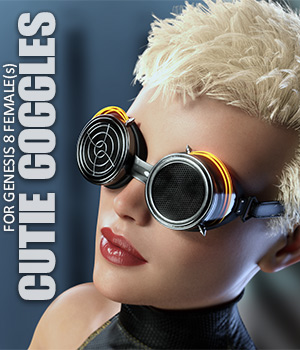 Cutie Goggles for Genesis 8 Females - Extended License 3D Figure Assets Extended Licenses lilflame