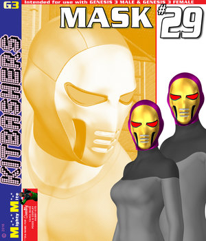 MMKBG3 Mask 029 3D Figure Assets MightyMite