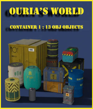 Ourias's world : containers 1 3D Models Ourias3D