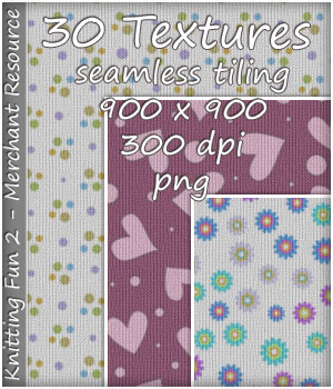 KW Knitting Fun 2 - 30 Textures - Merchant Resource 2D Graphics Merchant Resources karanta