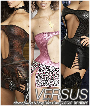 VERSUS - dforce Sweet & Sexy Dress One G3FG8F 3D Figure Assets Anagord
