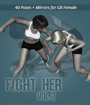 Fight Her vol.2 for Genesis 8 Female 3D Figure Assets PainMD