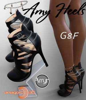 Amy Heels and Pantyhose G8F 3D Figure Assets Arryn