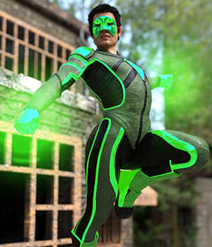 Modern Superheroes: The Emerald Torch for G8M 3D Figure Assets sixus1