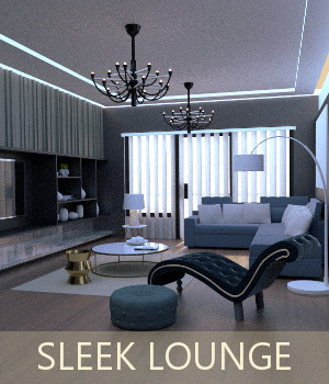 Sleek Lounge 3D Models TruForm