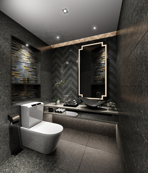 BATHROOM  01 - Extended License 3D Game Models : OBJ : FBX 3D Models Extended Licenses ventaarchviz