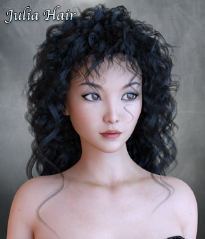 Julia Hair for G3 and G8 Daz 3D Figure Assets RPublishing
