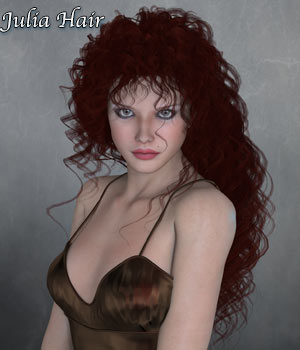 Julia Hair V4 and M4 Poser 3D Figure Assets RPublishing