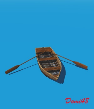 Small Boat for VUE 3D Models Domi48