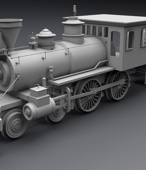 Old Steam Locomotive - Extended License 3D Game Models : OBJ : FBX 3D Models Extended Licenses adt0192