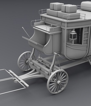 Carriage - Extended License 3D Game Models : OBJ : FBX 3D Models Extended Licenses adt0192