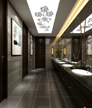 BATHROOM  02 - Extended LIcense 3D Game Models : OBJ : FBX 3D Models Extended Licenses ventaarchviz