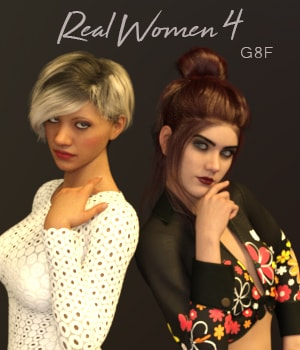Real Women 4 for G8F 3D Figure Assets AliveSheCried