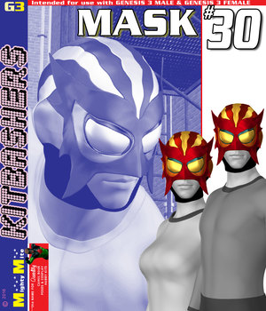 Mask 030 MMKBG3  3D Figure Assets MightyMite