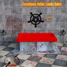 Exceptional Gothic Candle Holder scene for Daz3d Iray image 1