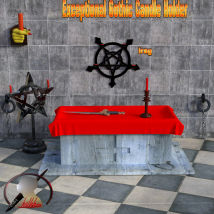 Exceptional Gothic Candle Holder scene for Daz3d Iray image 2