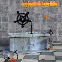 Exceptional Gothic Candle Holder scene for Daz3d Iray image 3