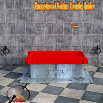 Exceptional Gothic Candle Holder scene for Daz3d Iray image 4