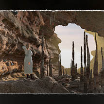 3D Scenery: Volcanic Caves and Cliffs for Poser and Daz Studio image 1
