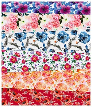 Floral Silk Prints 2D Graphics Merchant Resources Medeina
