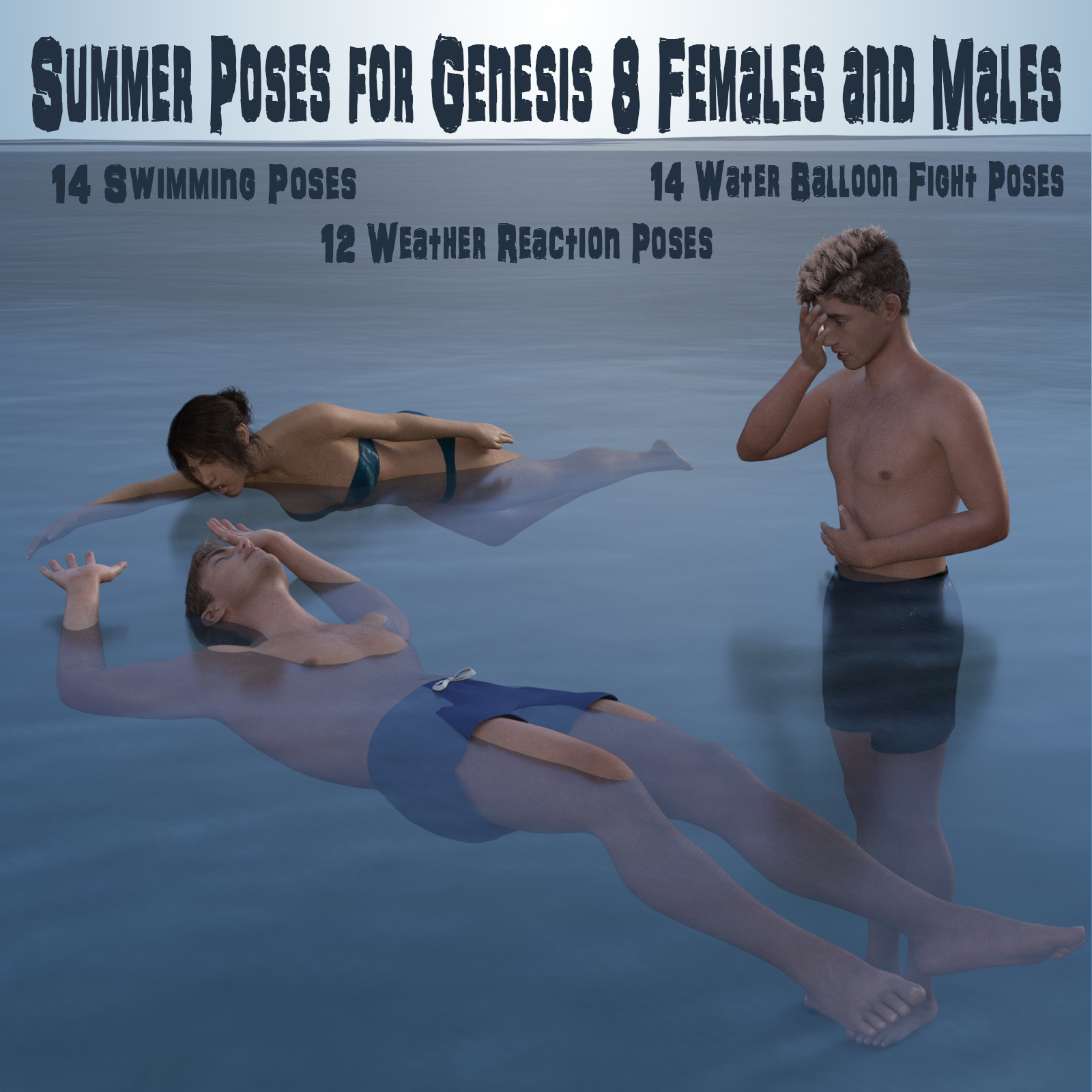 Summer Poses for Genesis 8 Males and Females