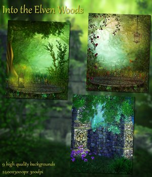 Into the Elven Woods Background Images 2D Graphics VanishingPoint