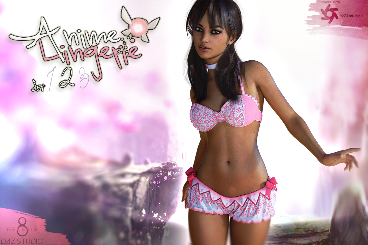 Anime Lingerie Set 2 For Genesis 8 Females by Man7a