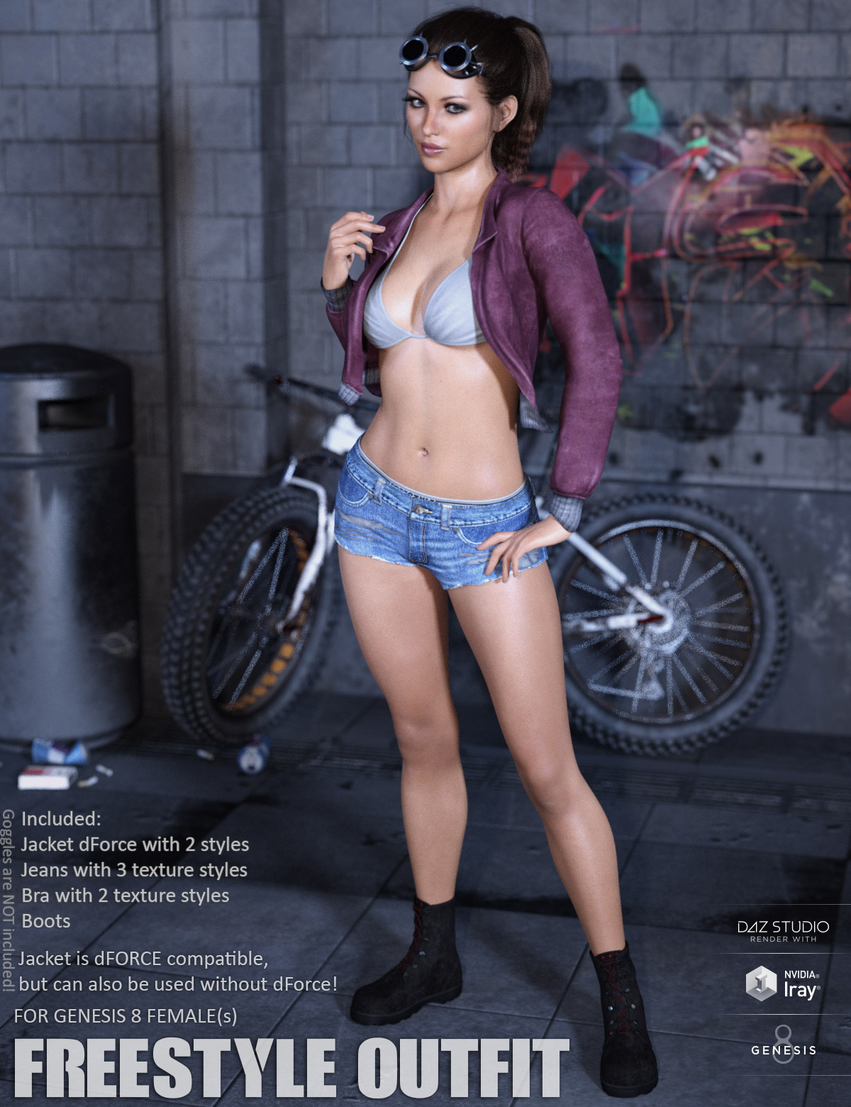 Freestyle Outfit for Genesis 8 Females by lilflame