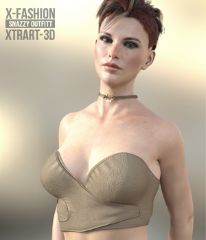 X-Fashion Snazzy Outfit for Genesis 8 Female  3D Figure Assets xtrart-3d
