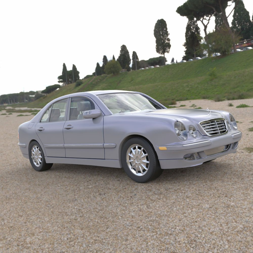 Mercedes Benz E-320 2000 3ds and obj - Extended License by Digimation_ModelBank