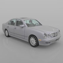Mercedes Benz E-320 2000 3ds and obj - Extended License image 4