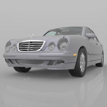 Mercedes Benz E-320 2000 3ds and obj - Extended License image 5