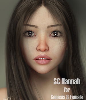 SC Hannah for Genesis 8 Female 3D Figure Assets secondcircle