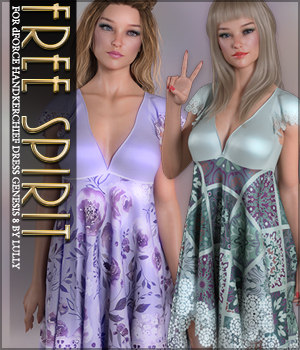Free Spirit for dForce Handkerchief Dress G8F 3D Figure Assets Sveva