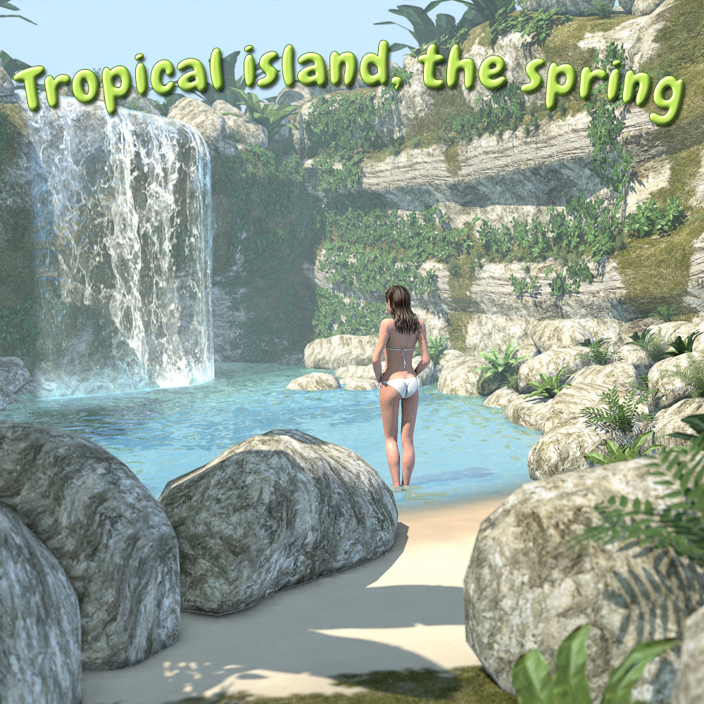 Tropical island, the spring for Poser by 2nd_World