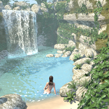 Tropical island, the spring for Poser image 1