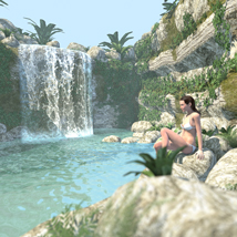 Tropical island, the spring for Poser image 4