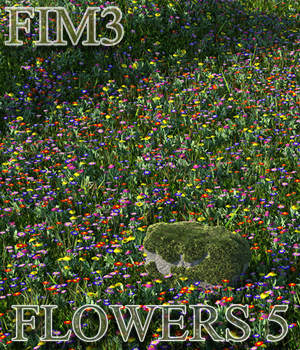 Flinks Instant Meadow 3 - Flowers 5 3D Models Flink