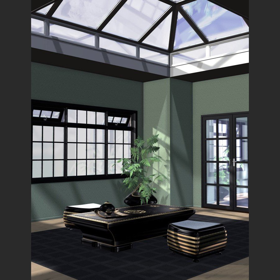 P.I.C.K. Georgian Windows Exp Set for Poser by VanishingPoint