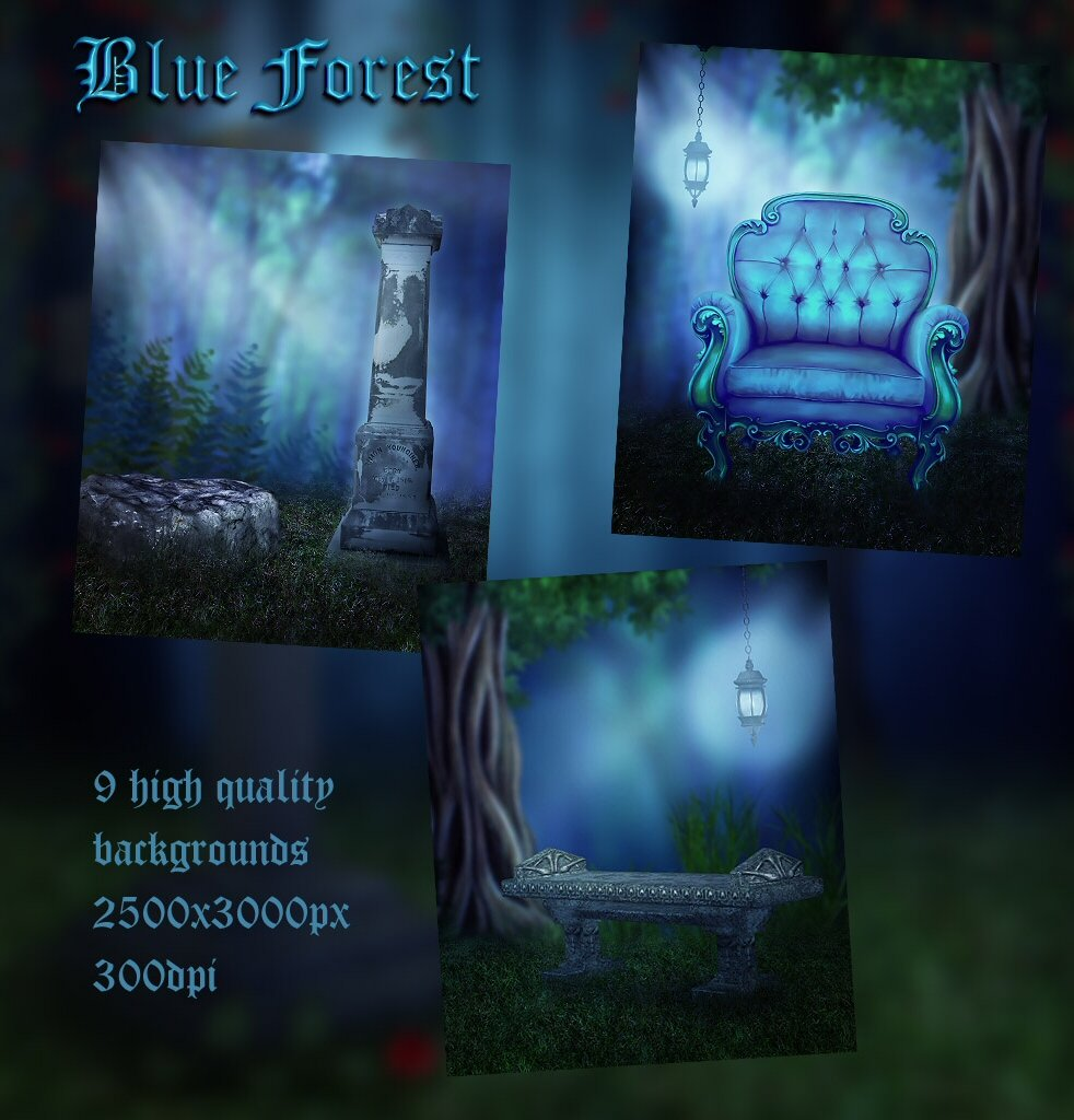Blue Forest Background Images