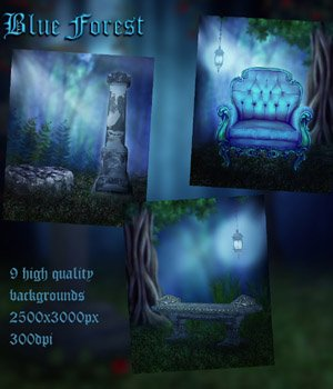Blue Forest Background Images 2D Graphics VanishingPoint