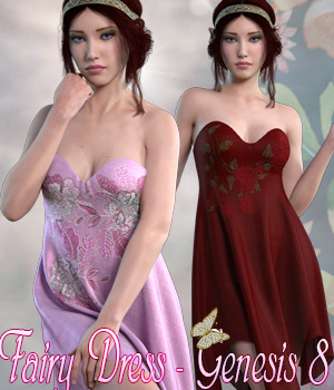 dForce Fairy Dress - Genesis 8 3D Figure Assets kaleya